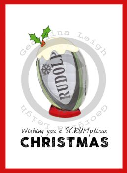 Rugby Christmas Card